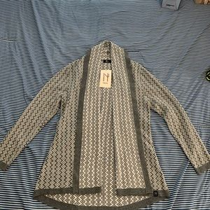Neve Grey and white cardigan NWT